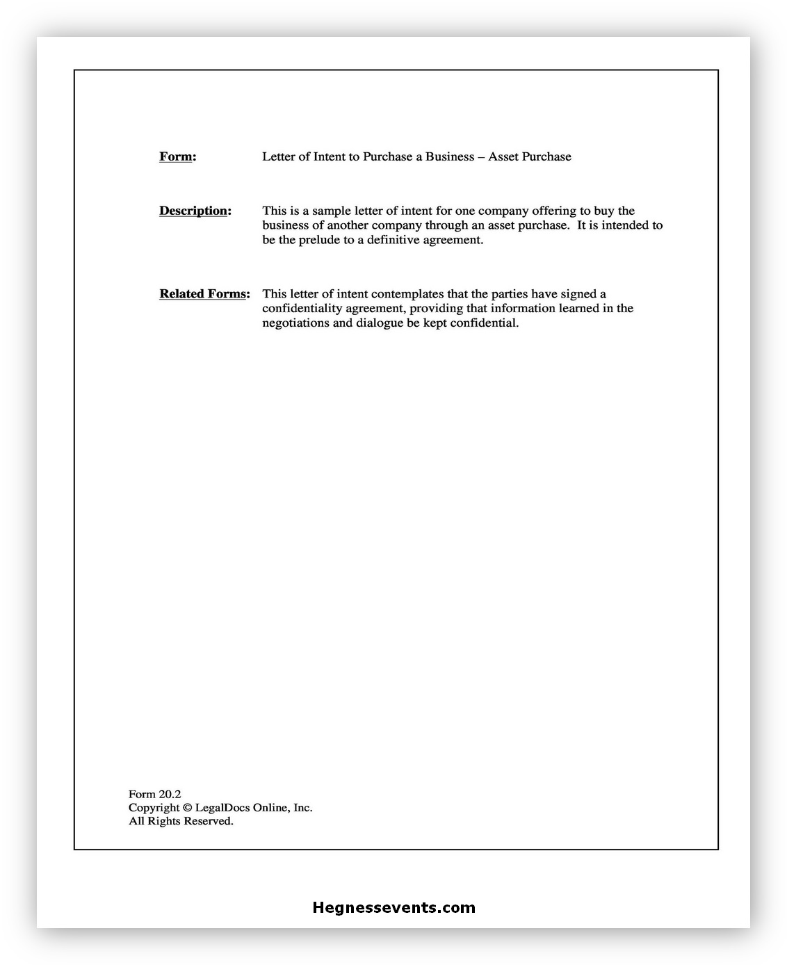 Business Letter Template 04