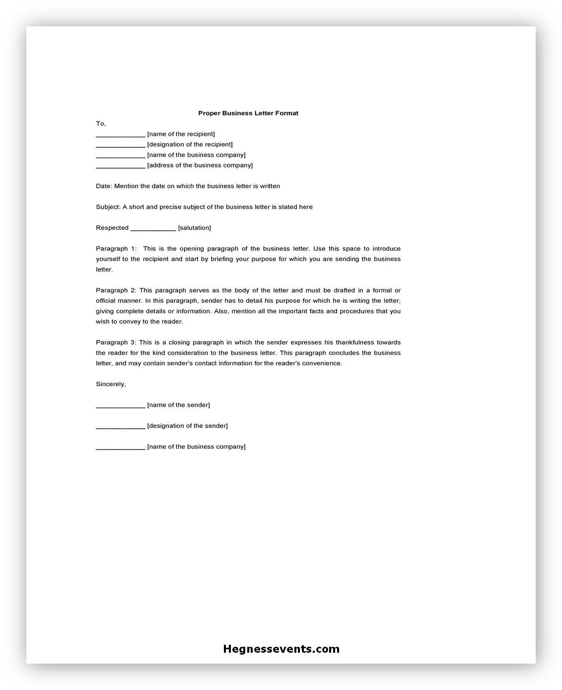Business letter Format 02