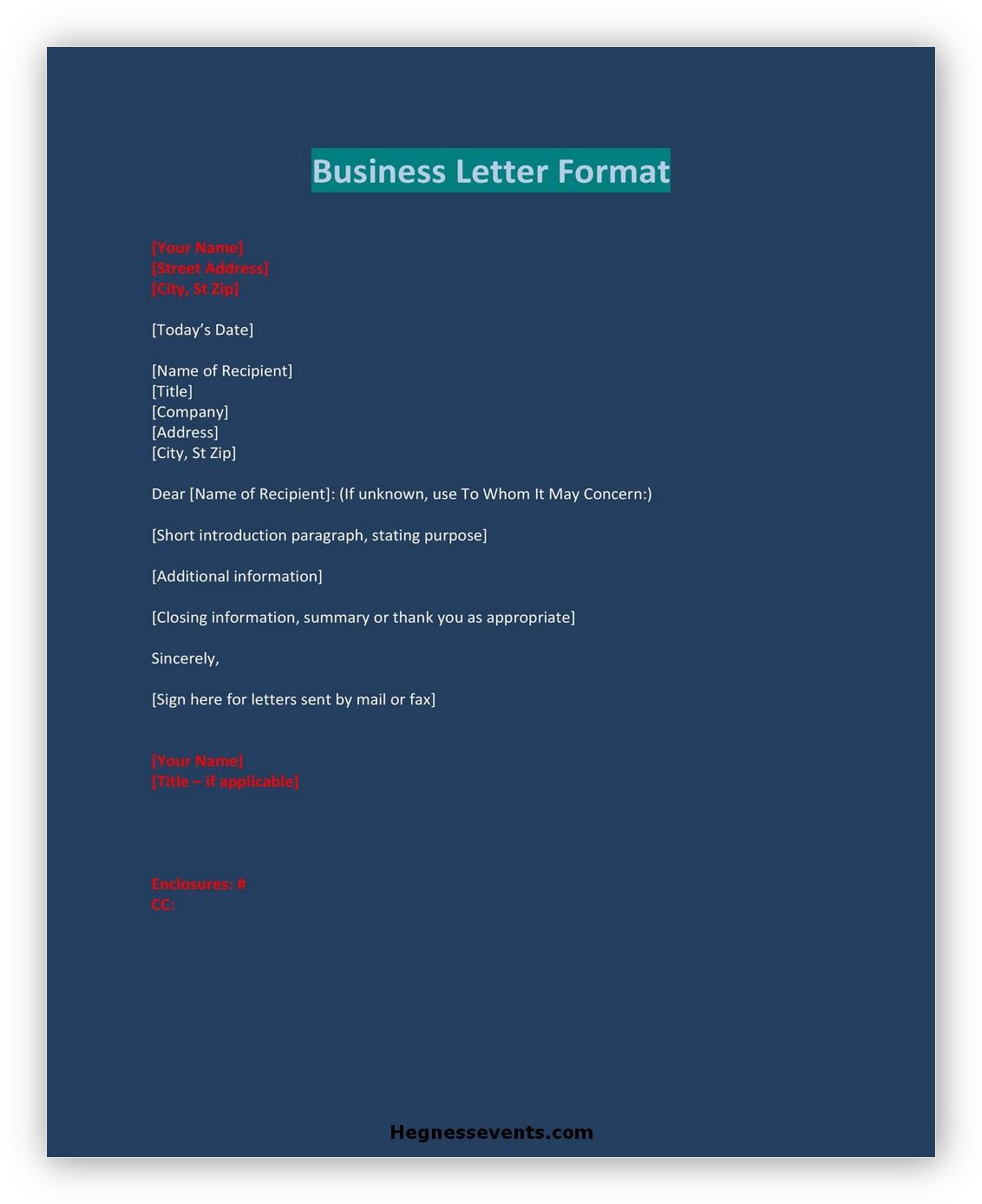 Business letter Format 09