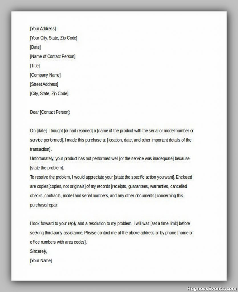 Consumer Complaint Letter Download Free Download1
