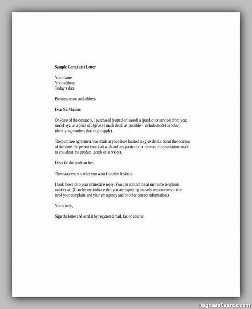 Customer Complaint Letter PDF Format Download1