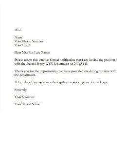 Employee Resignation Letter 02