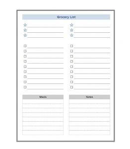 Grocery list template 04