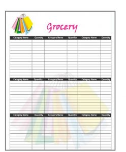Grocery list template 11