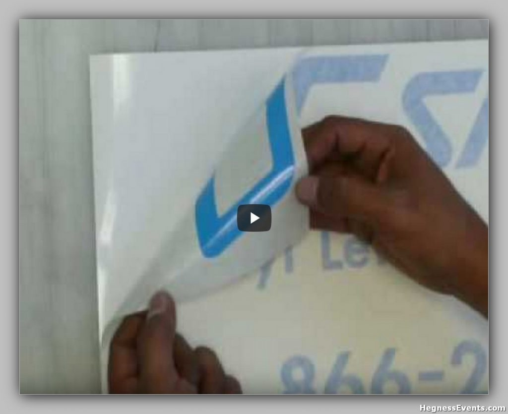 How To Apply Vinyl Lettering 1