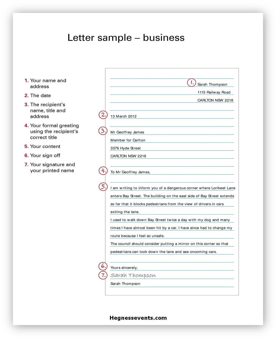 Sample Business Letter 02