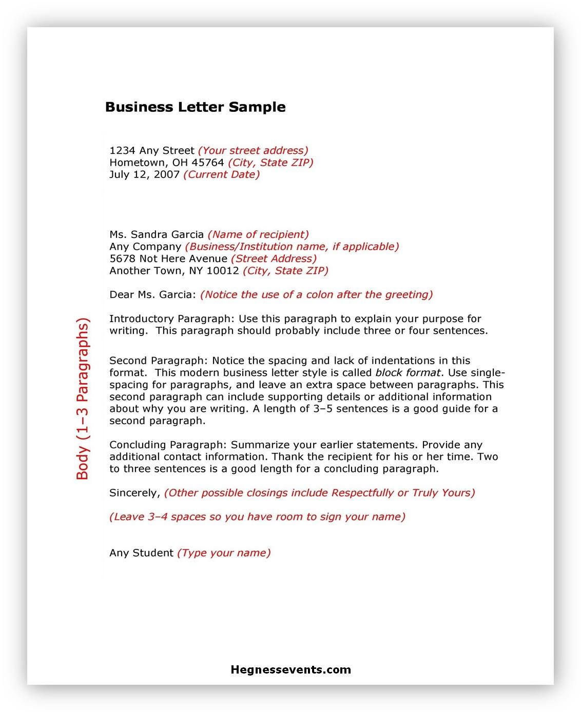 Sample Business Letter 03