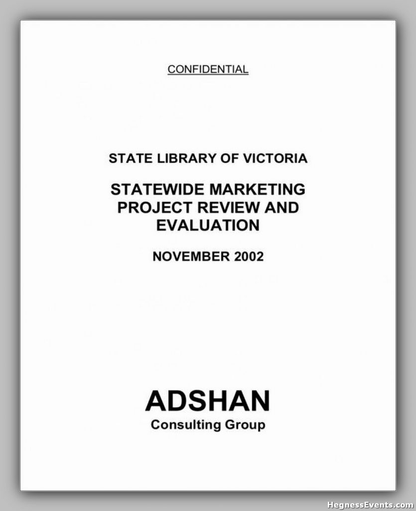 Statewide Marketing Project Review and Evaluation