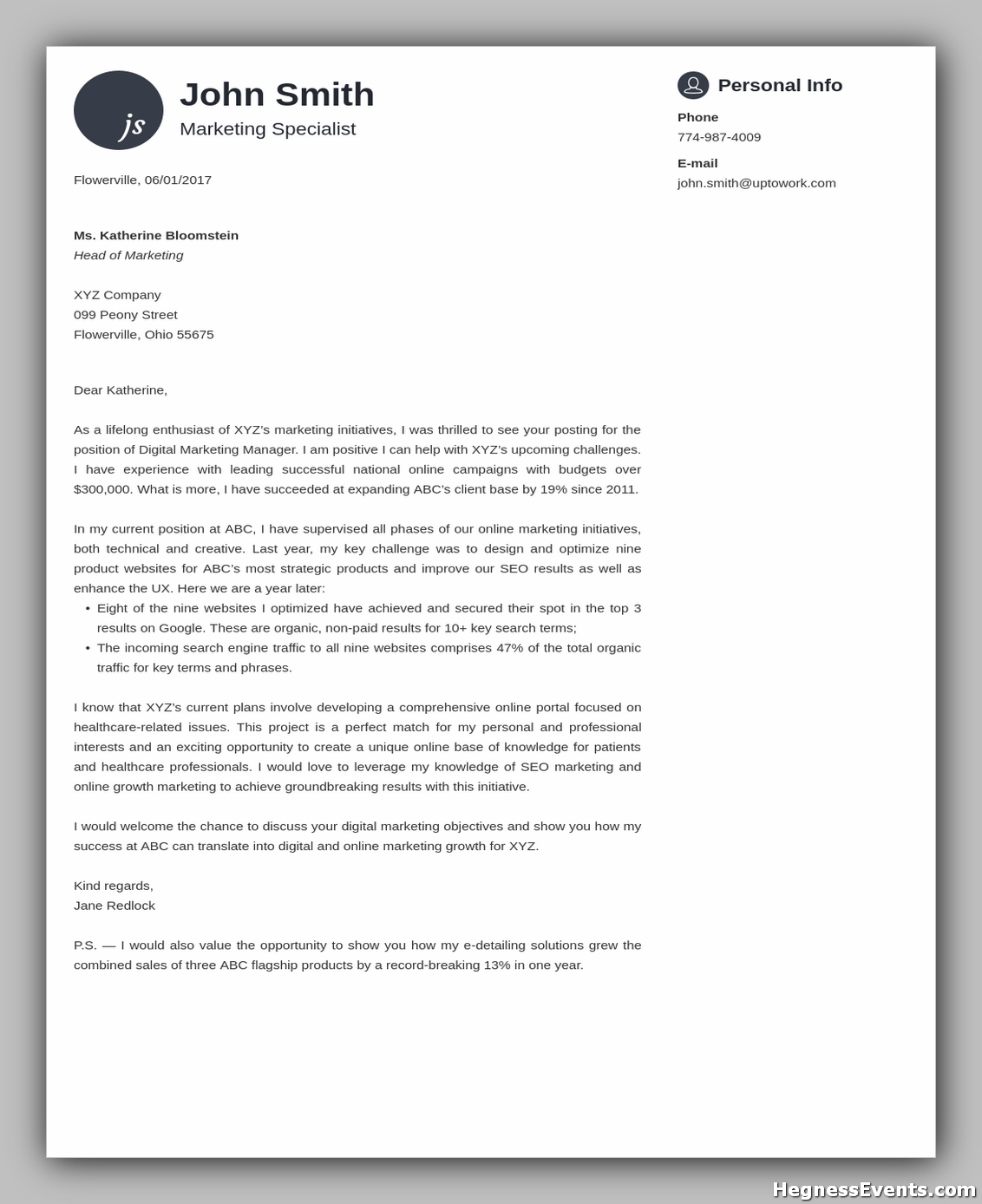 cover letter templates 15