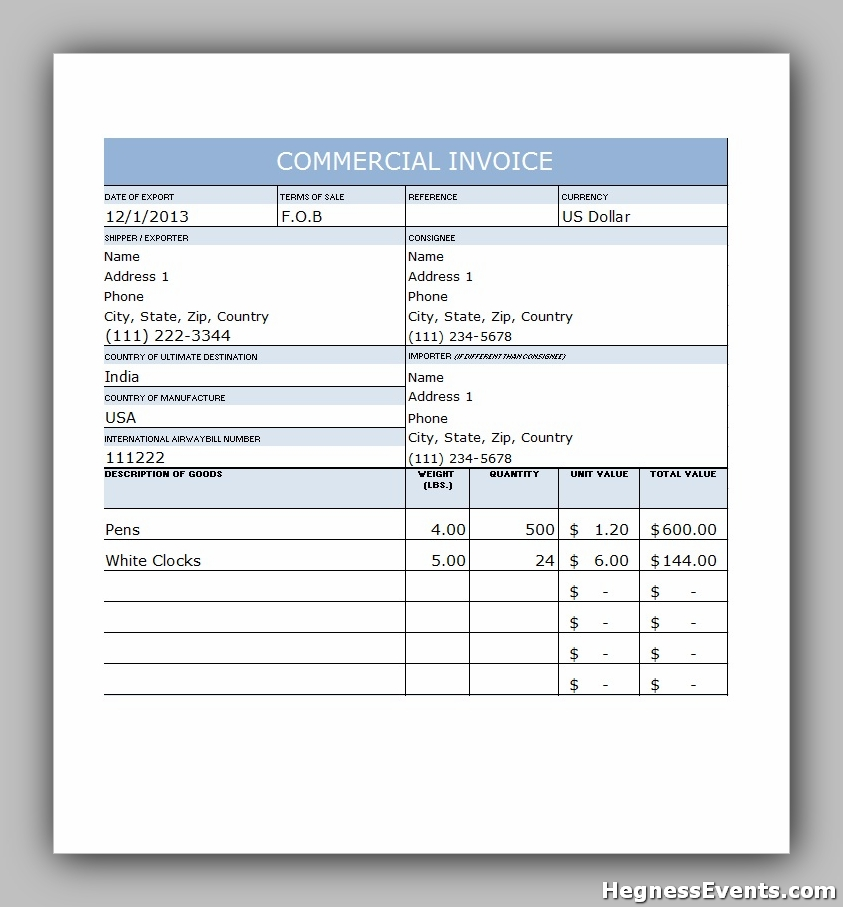 invoice example template 37