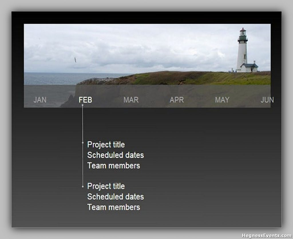 Blank Graphic Timeline Template Free PPT