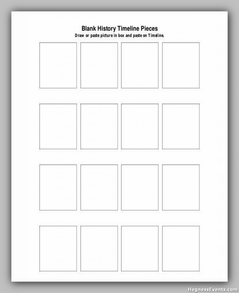 Blank History Timeline Pieces