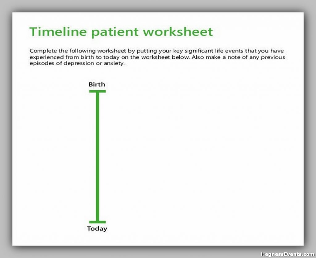 Blank Timeline Patient Worksheet