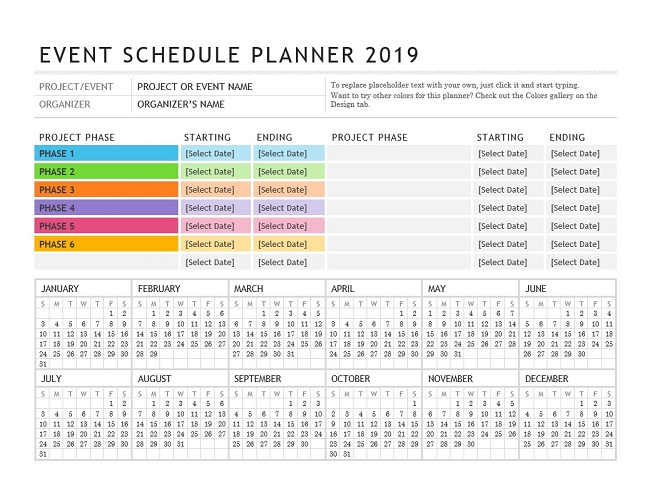 Download Event Schedule Planner Template