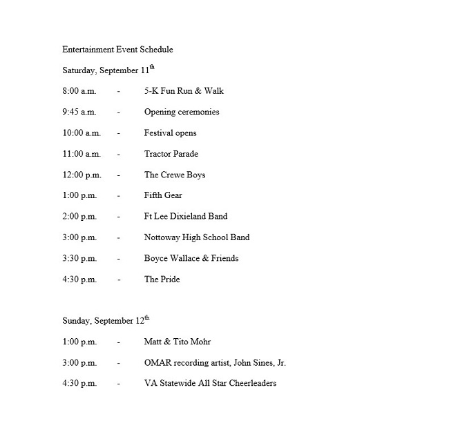 Entertainment Event Schedule Template