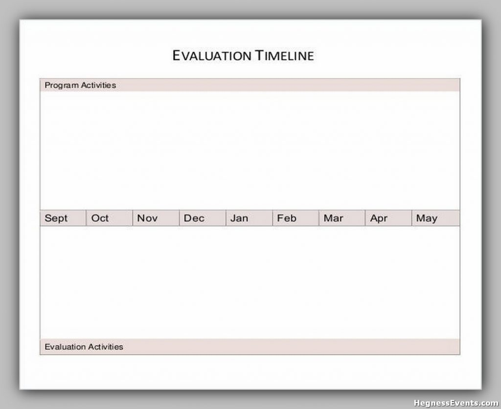 Evaluation Timeline Worksheet