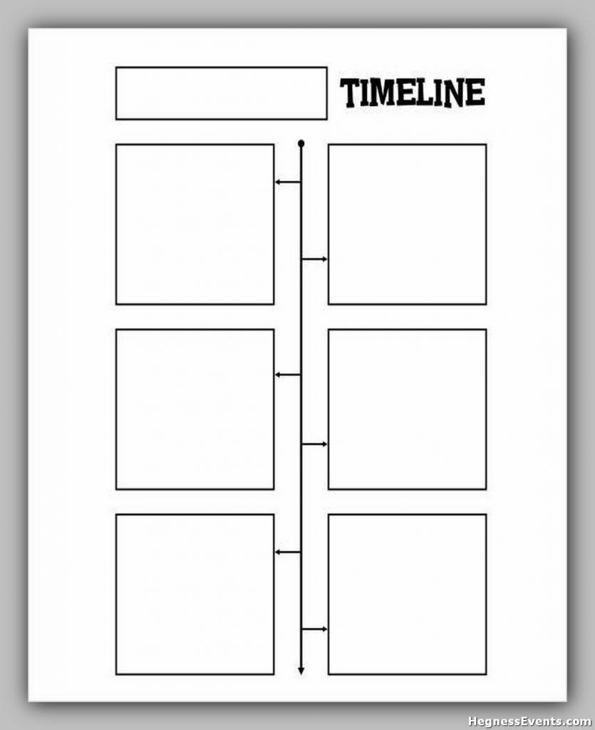 blank timeline template for kids