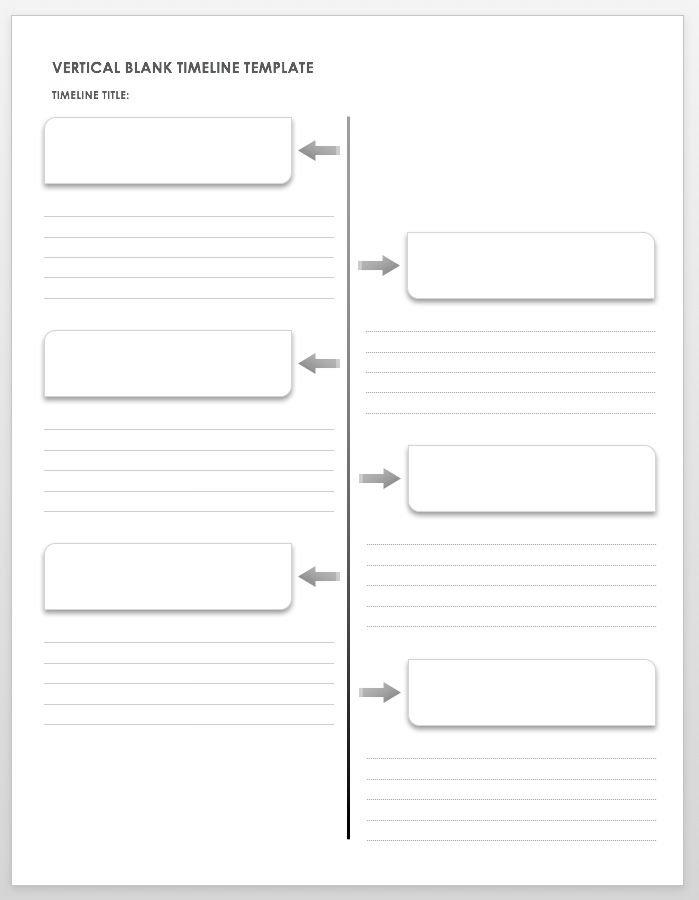 blank timeline template pdf