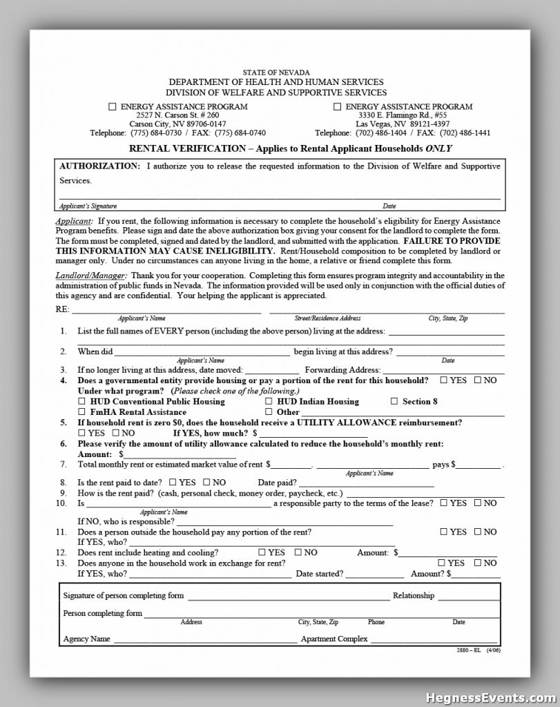 rental verification form 12