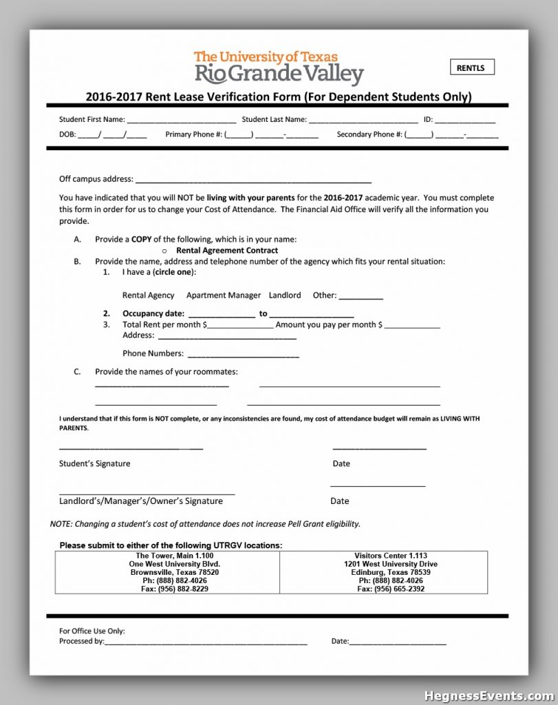 rental verification form 29