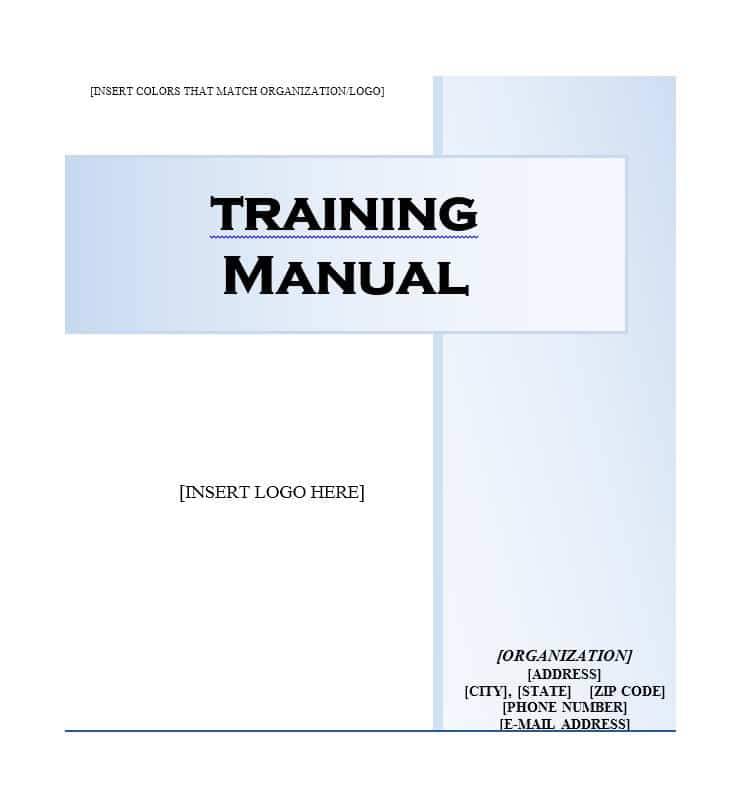 training manual template training manual template 09