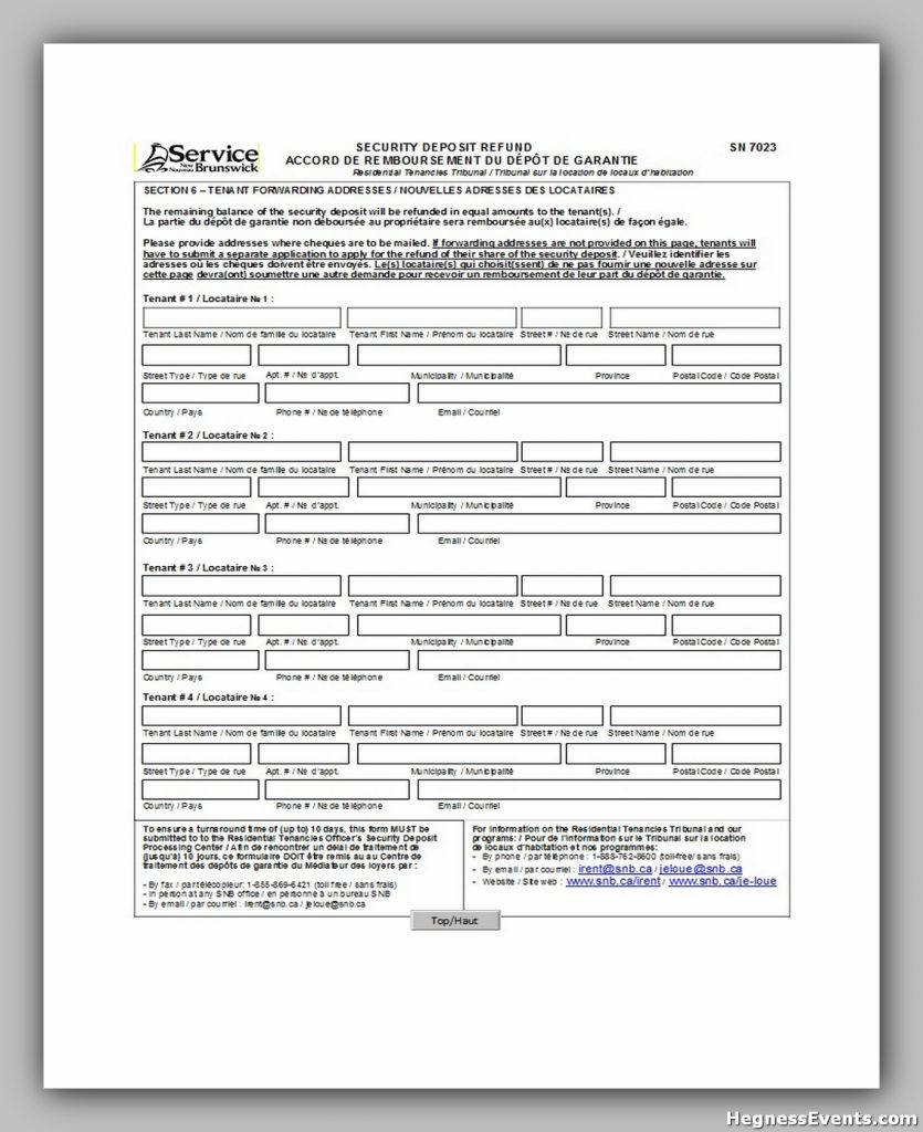 Security Deposit Form 12