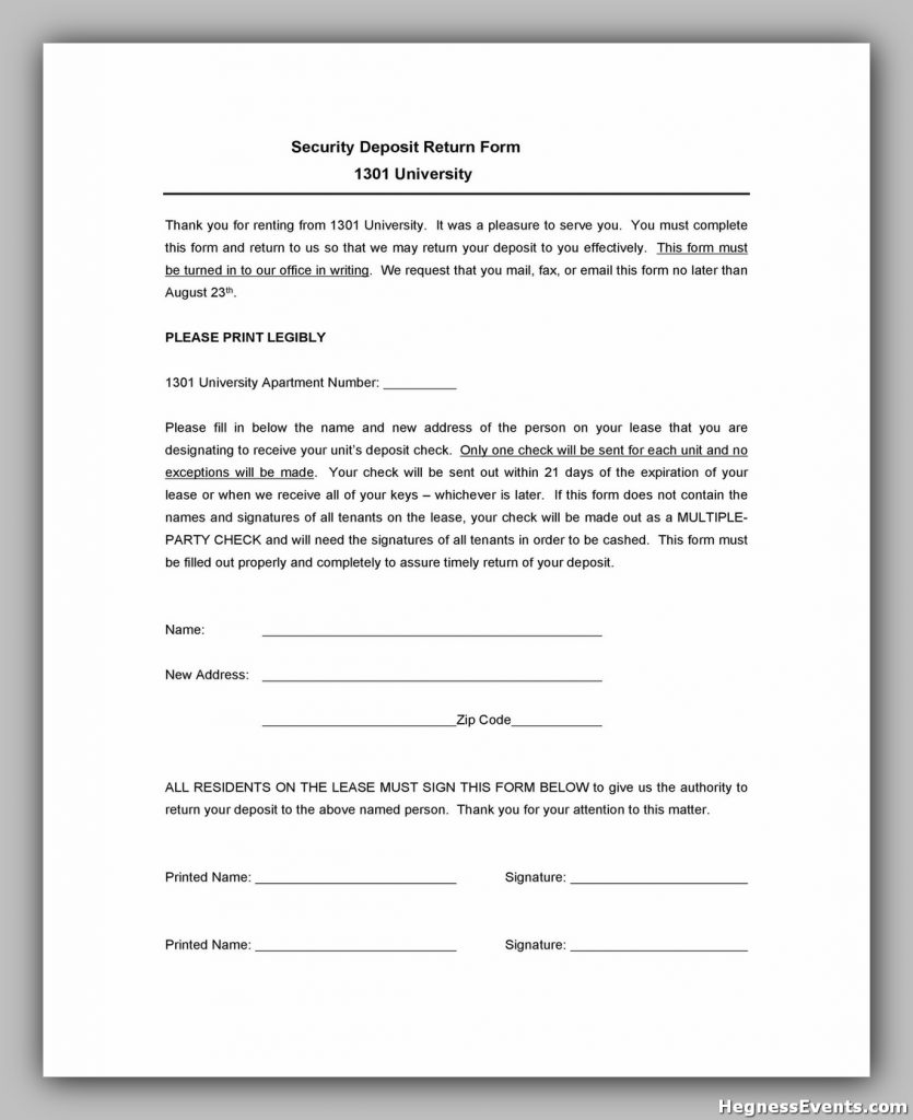 Security Deposit Form 13