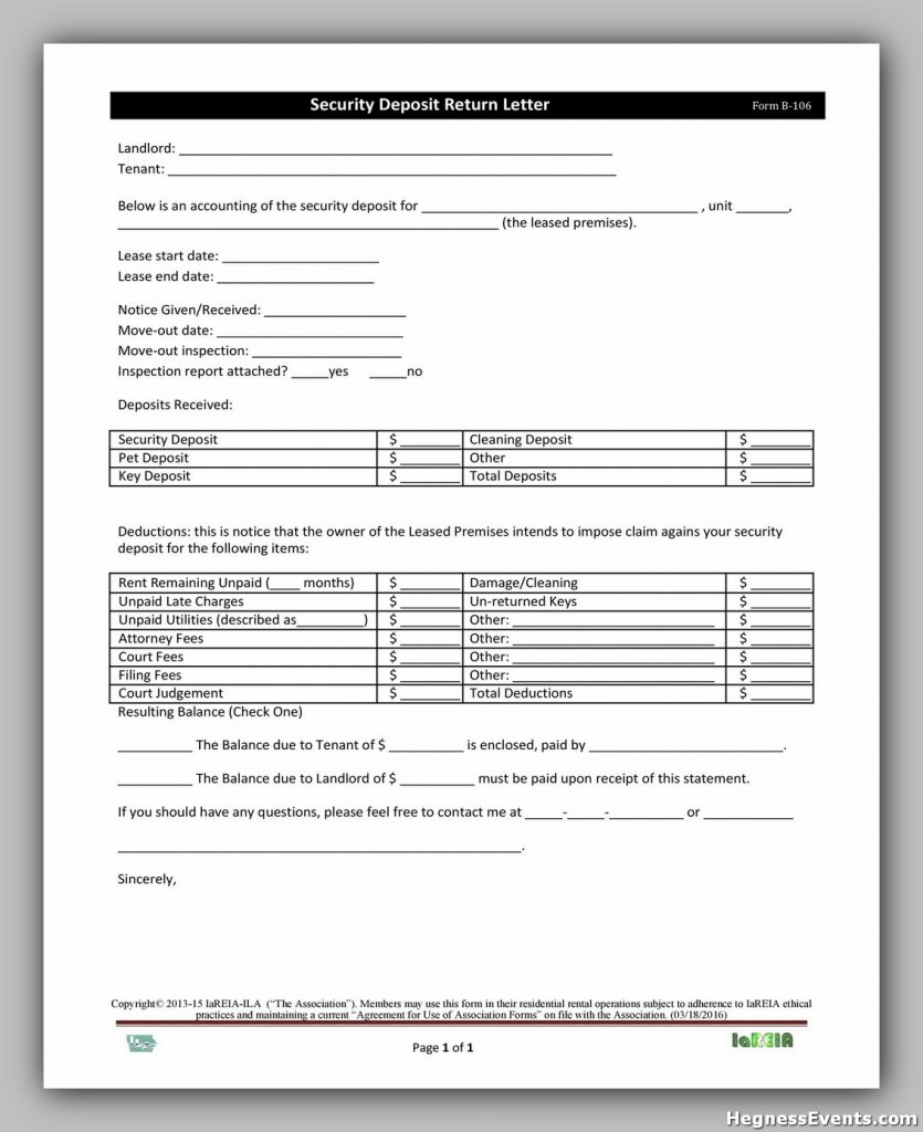 Security Deposit Form 17