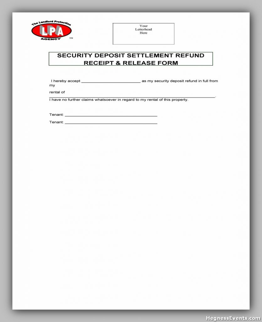 Security Deposit Form 32