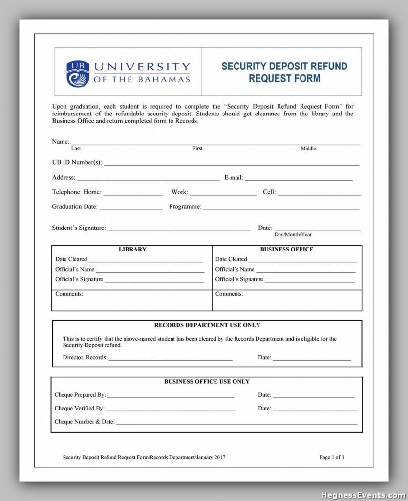 Security Deposit Form 34