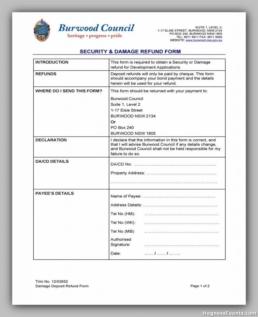 Security Deposit Form 35