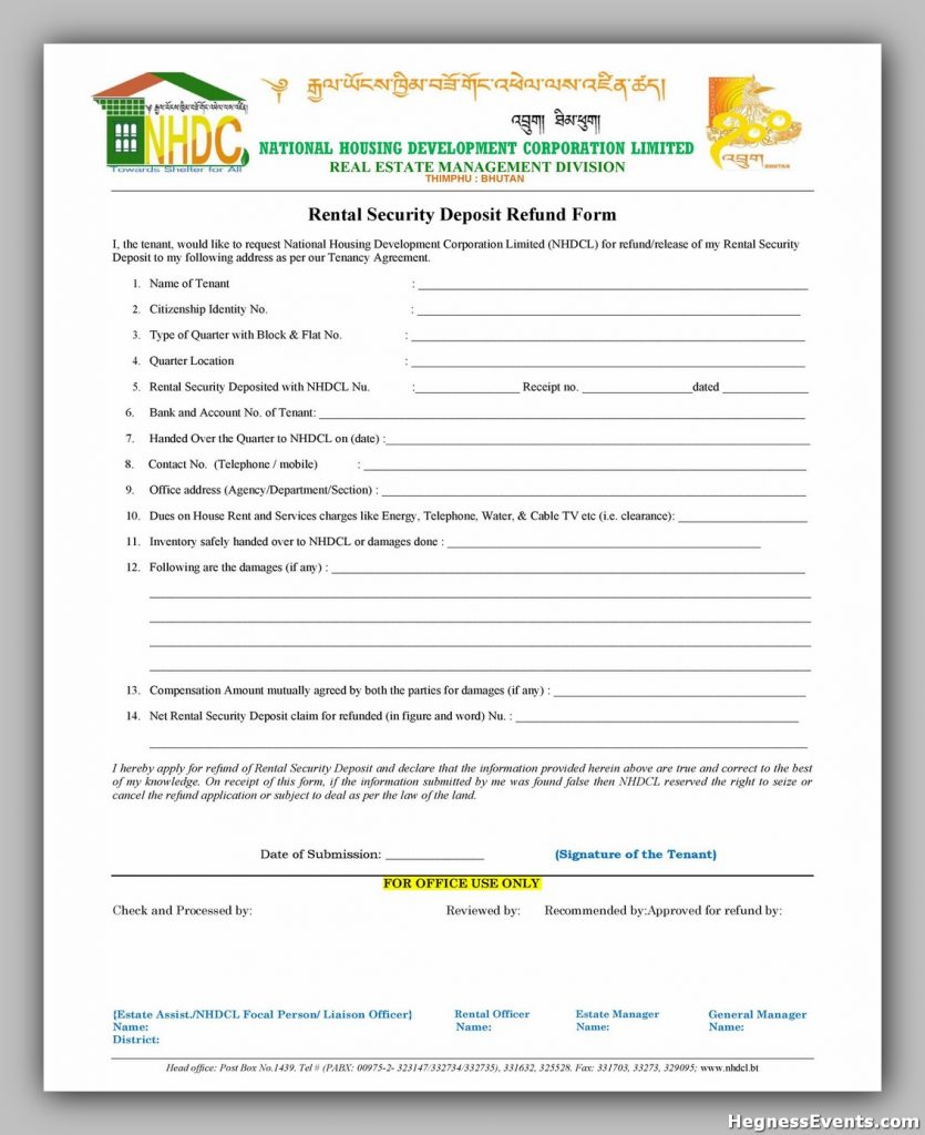 Security Deposit Form 37