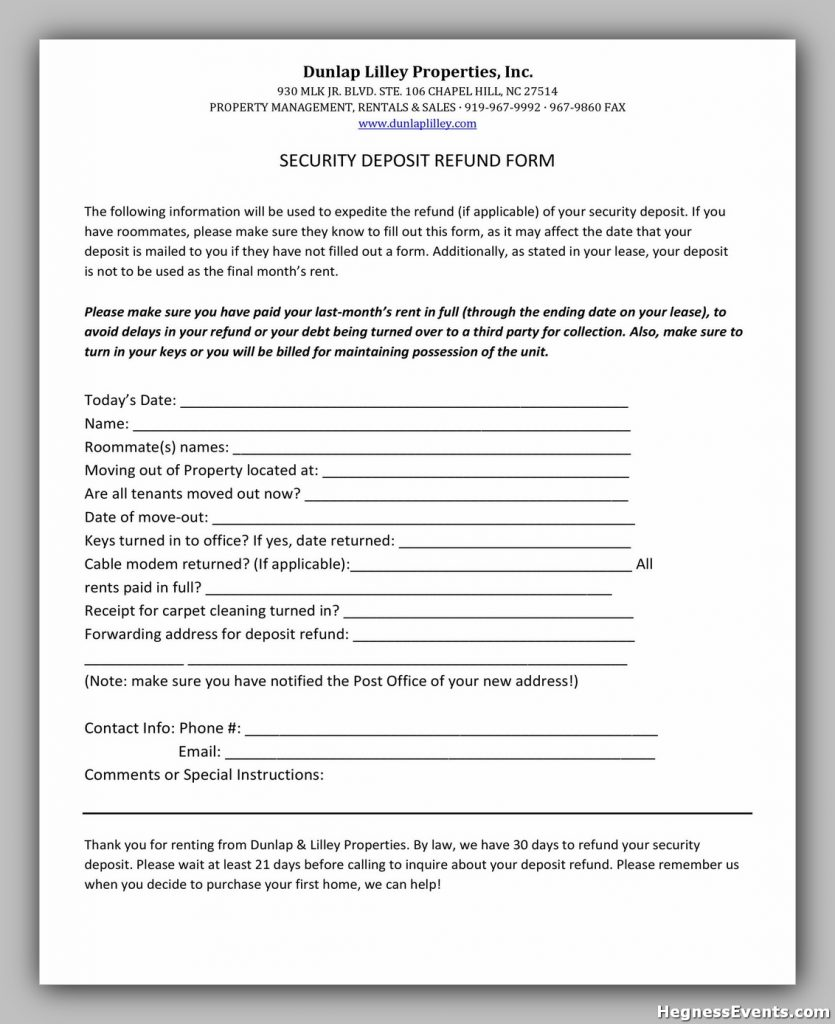 Security Deposit Form 38