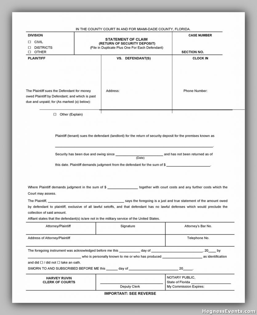 Security Deposit Form 39