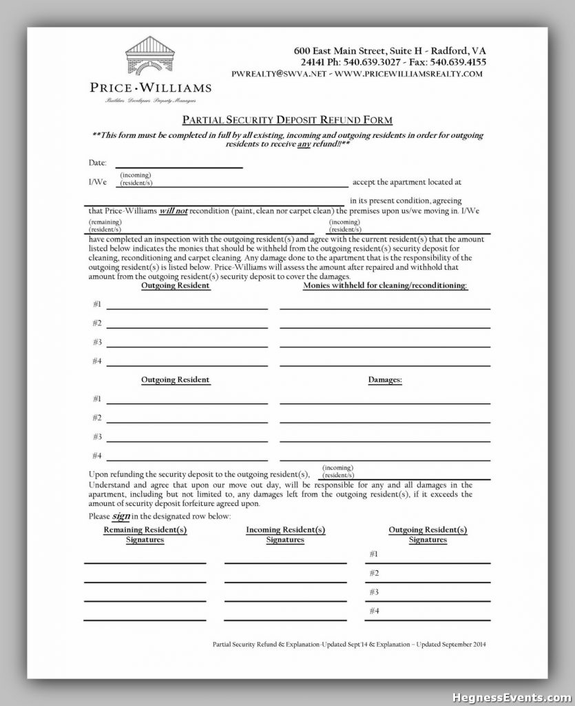 Security Deposit Form 40