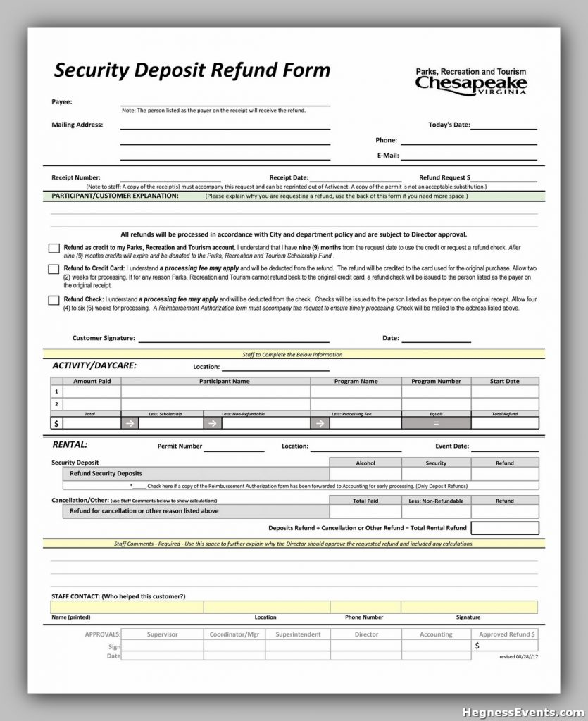 Security Deposit Form 47