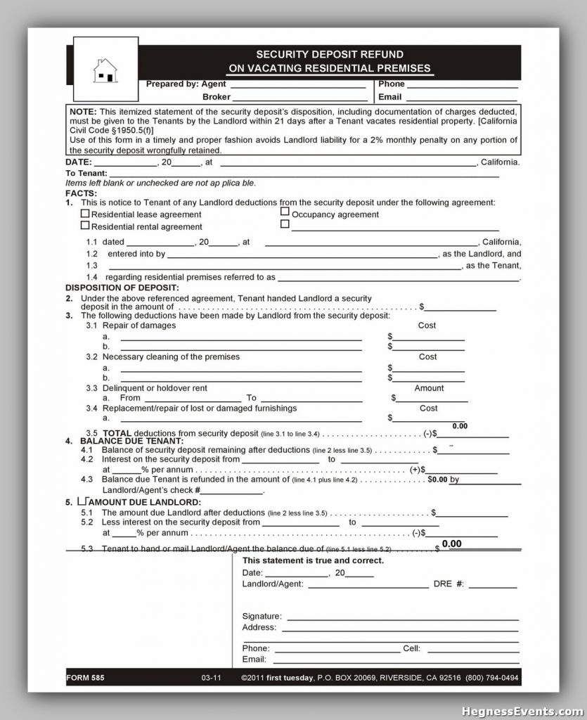 Security Deposit Form 48