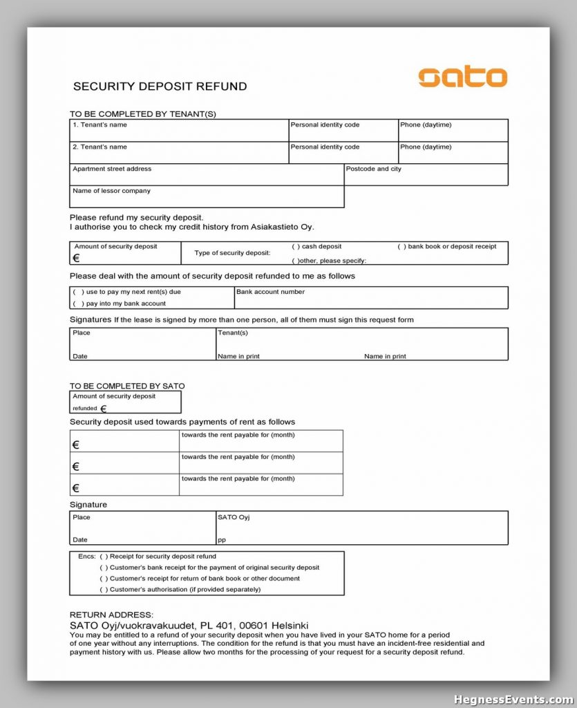 Security Deposit Form 49