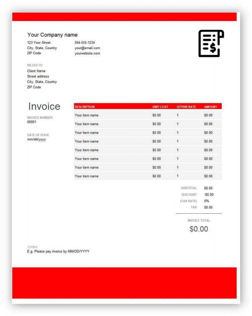 quickbooks invoice PDF