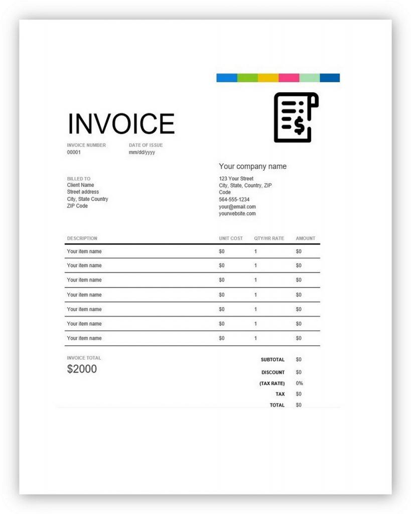 quickbooks invoice sample