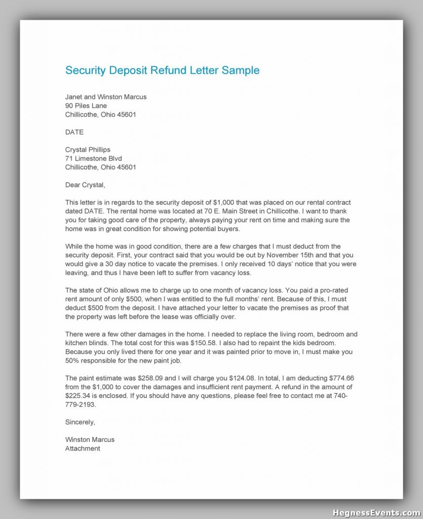 security deposit letter template 07