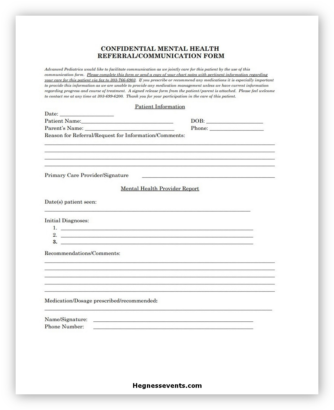 Health Communication Form