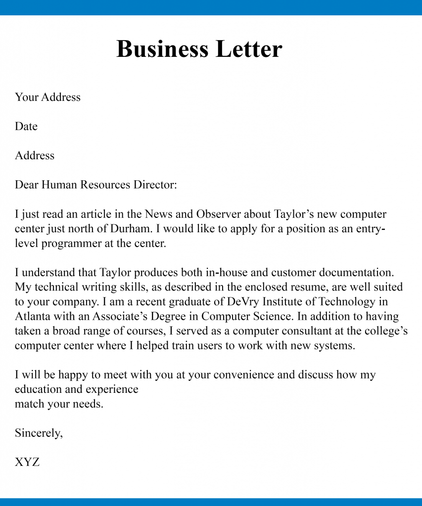 business letters business letter 3 853x1024