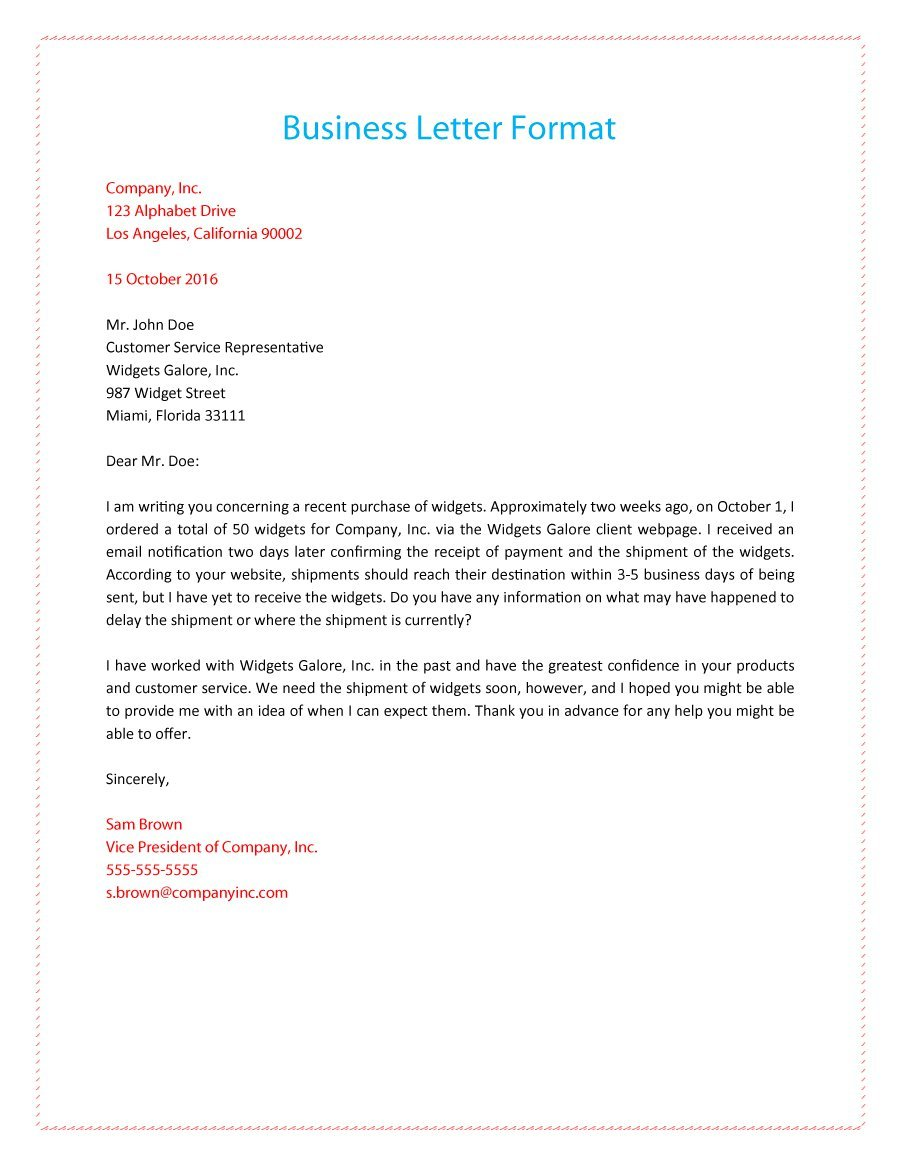 business letters formal business letter 01