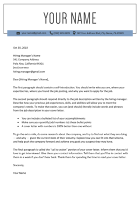 Cover Letter Templates PDF