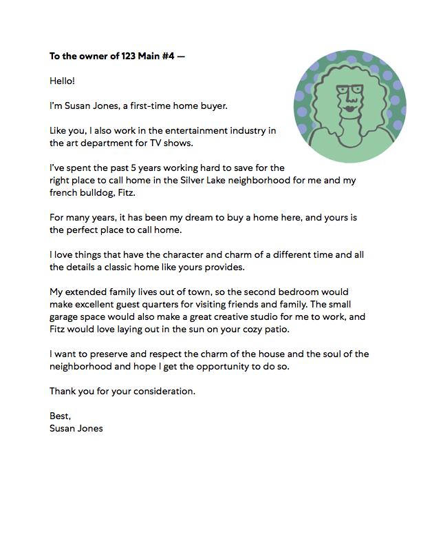 Home Purchase Offer Letter Sample