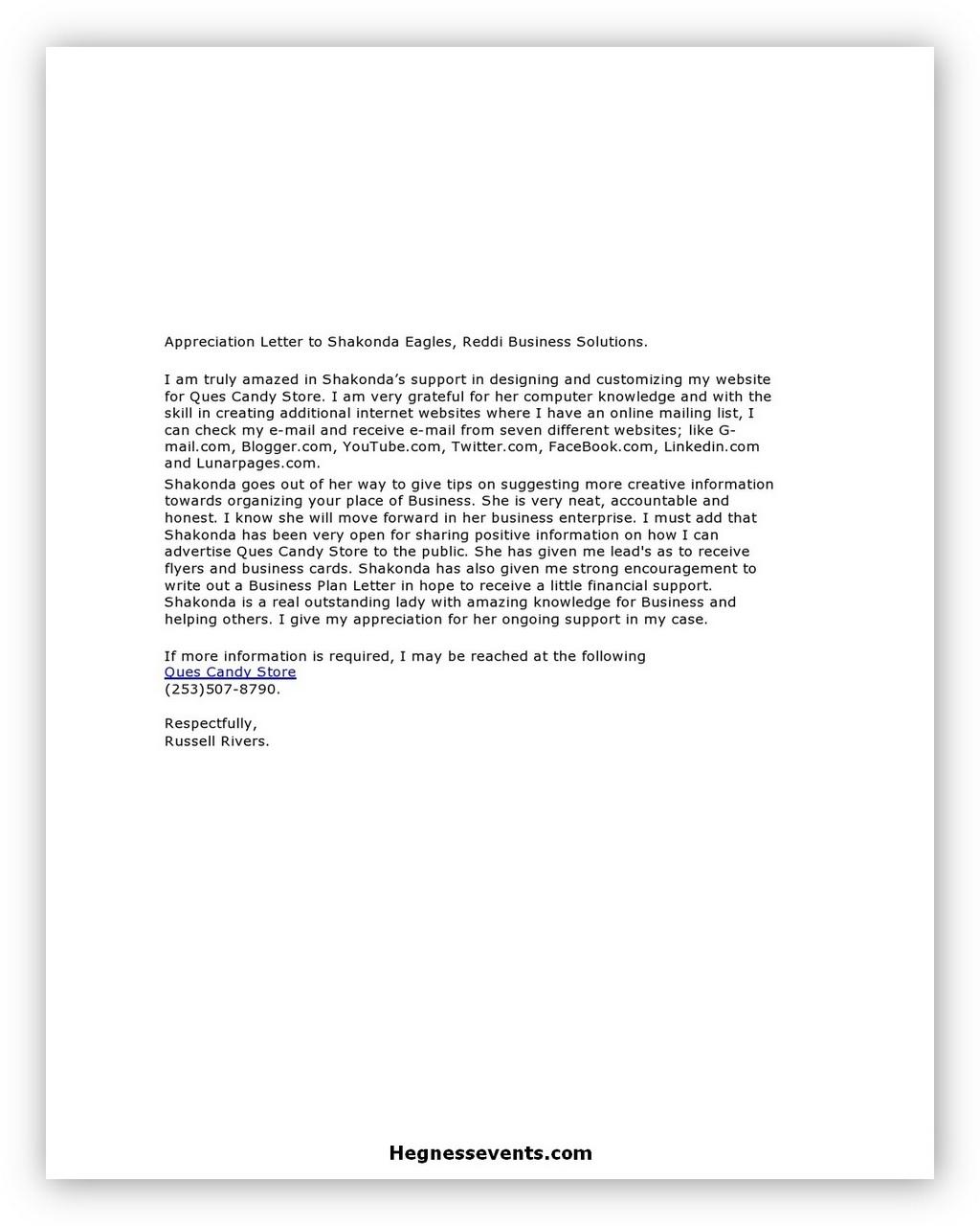 Appreciation Letter 03