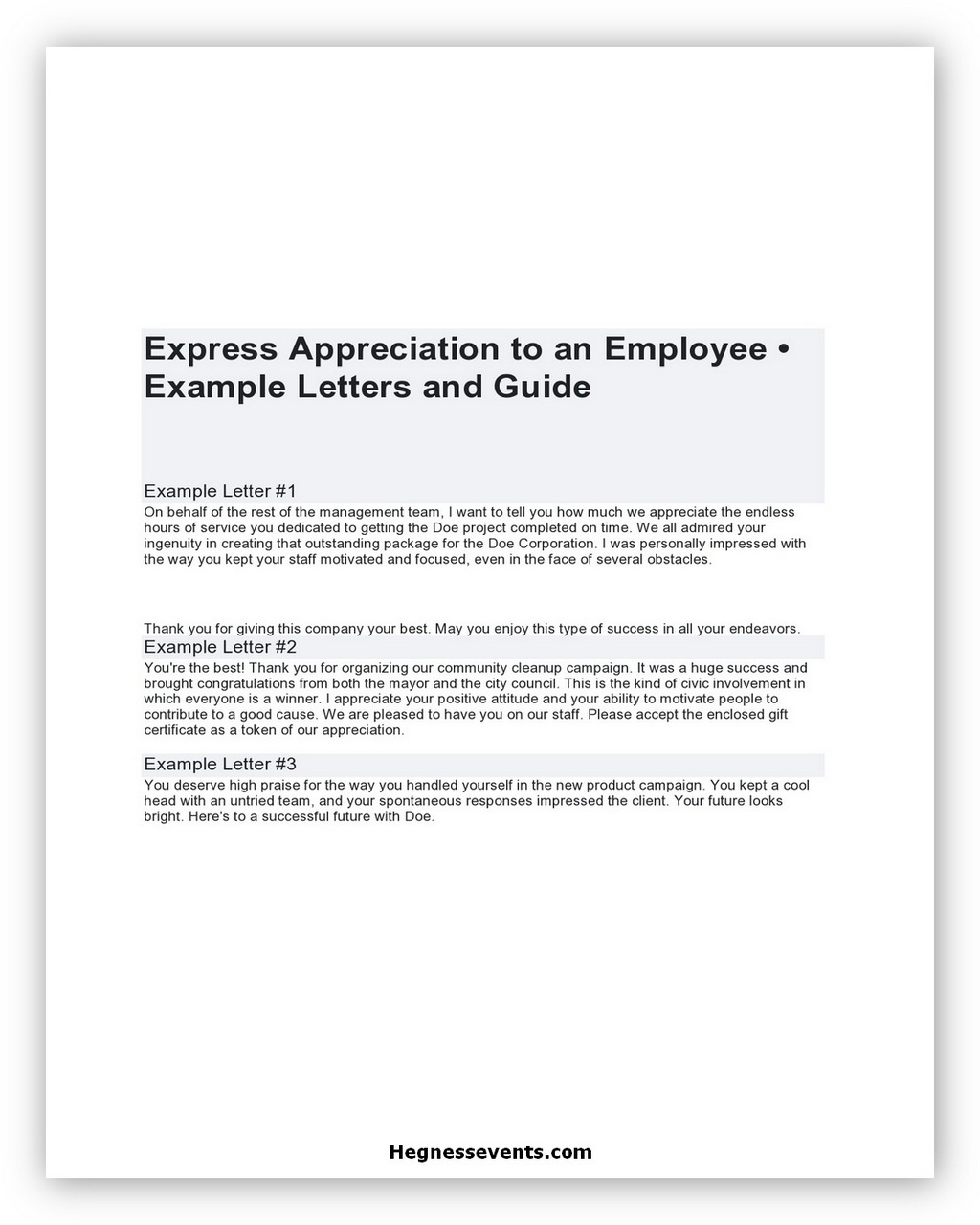 Appreciation Letter Example 04