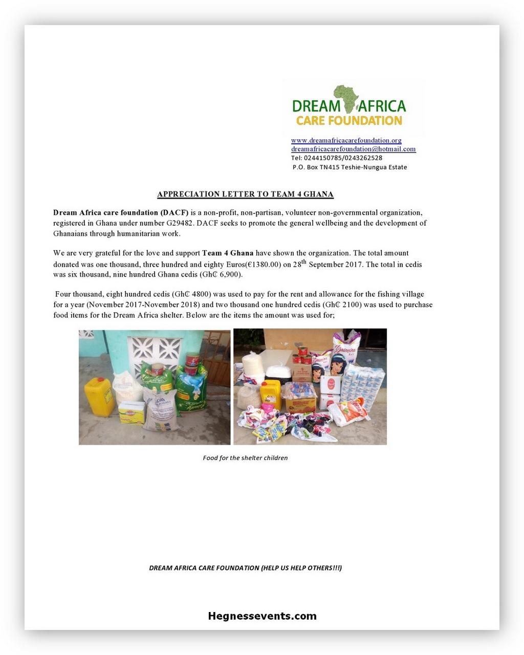 Appreciation Letter Example 05