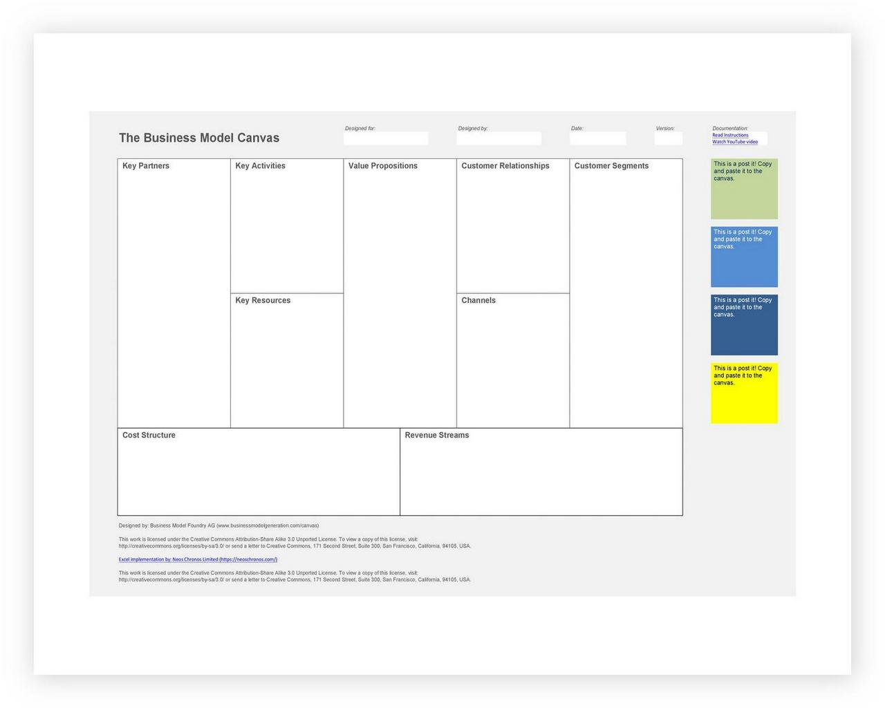 Business Model Canvas Template 48